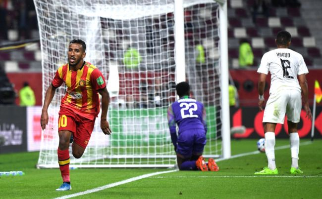 Hamdou Elhouni stars as Esperance beat Al Sadd to finish fifth. Photo | Getty Images