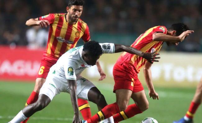 Belle opposition entre les Sang et Or et les Rajaouis en Ligue des champions le 25 janvier 2020 à Radès. (Photo CAFOnline.com)