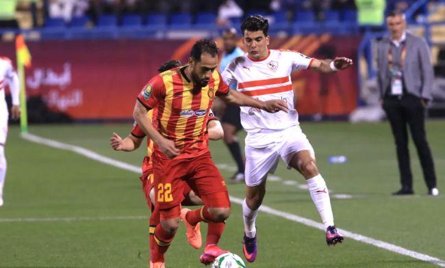 Sameh Derbali et ses coéquipiers ont été décevants face au Zamalek en Supercoupe d'Afrique 2020. (Photo CAFOnline.com)
