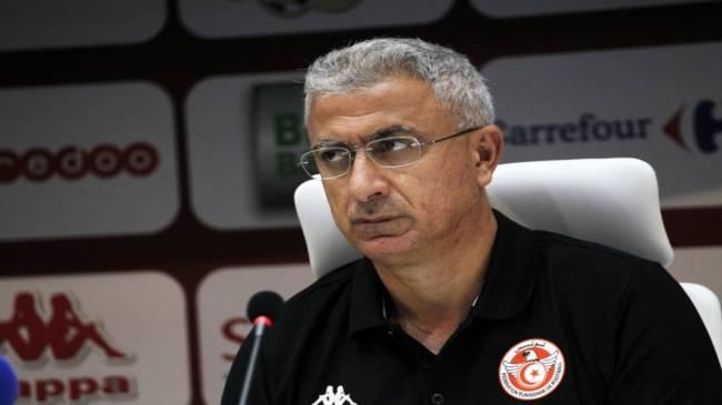 منذر الكبير مدرب المنتخب التونسي. صورة : الكنفدرالية الإفريقية لكرة القدم