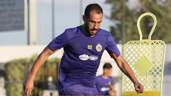 Sameh Derbali lors de l'entraînement du lundi 6 juillet 2020 au Parc B. (Photo est.org.tn)