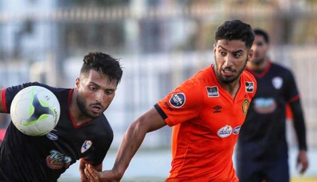 Youssef Abdelli auteur d'un nouveau but face à l'AS Soukra en match amical de préparation disputé au Parc B. (Photo est.org.tn)