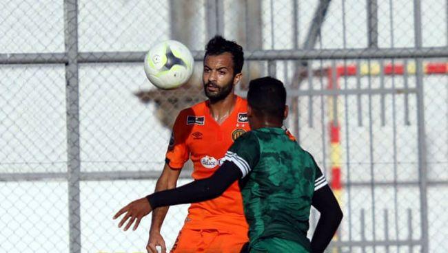 Taha Yassine Khenissi double buteur face au CS Hammam-Lif en amical, le 25 juillet 2020. (Photo est.org.tn)