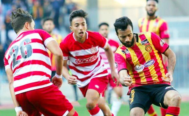 Taha Yassine Khenissi et ses coéquipiers n'ont pas su trouver la faille dans la défense clubiste... (Photo est.org.tn)