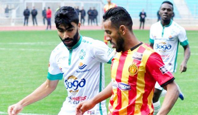 Hamdou Elhouni lors du match face à la JS Kairouanaise du 31 décembre 2019 à Radès. (Photo est.org.tn)