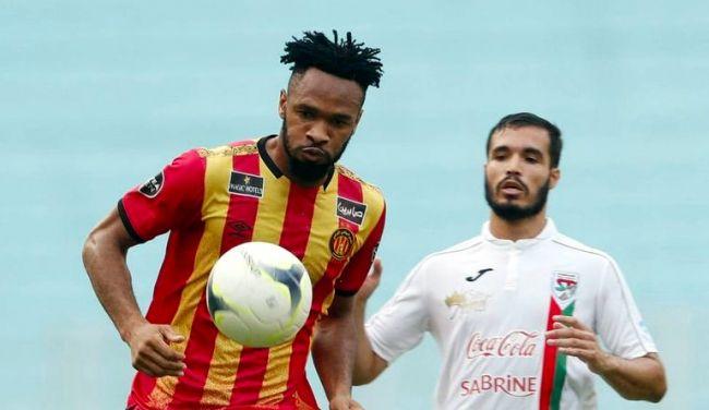 Fousseni Coulibaly face au Stade Tunisien. (Photo est.org.tn)