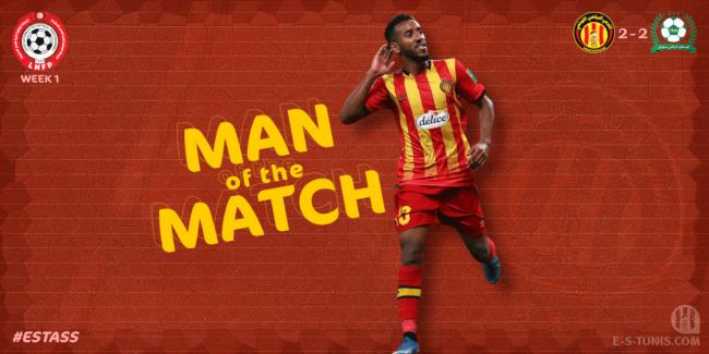 Hamdou Elhouni élu Homme du Match EST - ASS par les 'Tarajjinautes' !