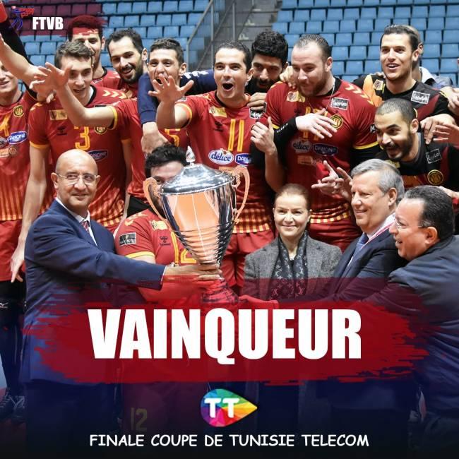 Espérance de Tunis winners of Tunisia's volleyball double. Photo | FTVB