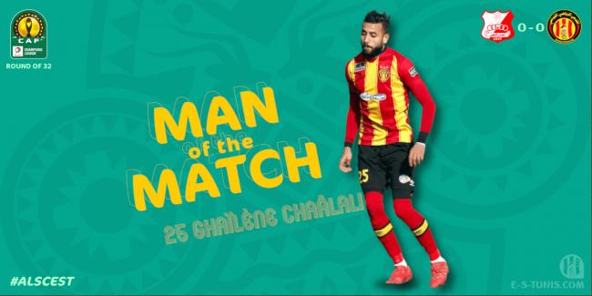 Chaâlali élu meilleur joueur du match Al Ahly Benghazi - Espérance de Tunis.
