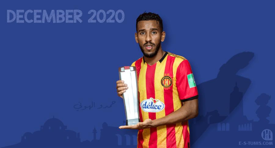 Hamdou Elhouni meilleur joueur Sang et Or du mois de décembre 2020.