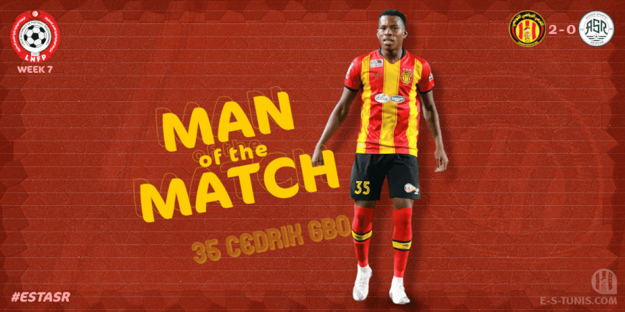 Cédrik Gbo Homme du Match EST - ASR (2 - 0).