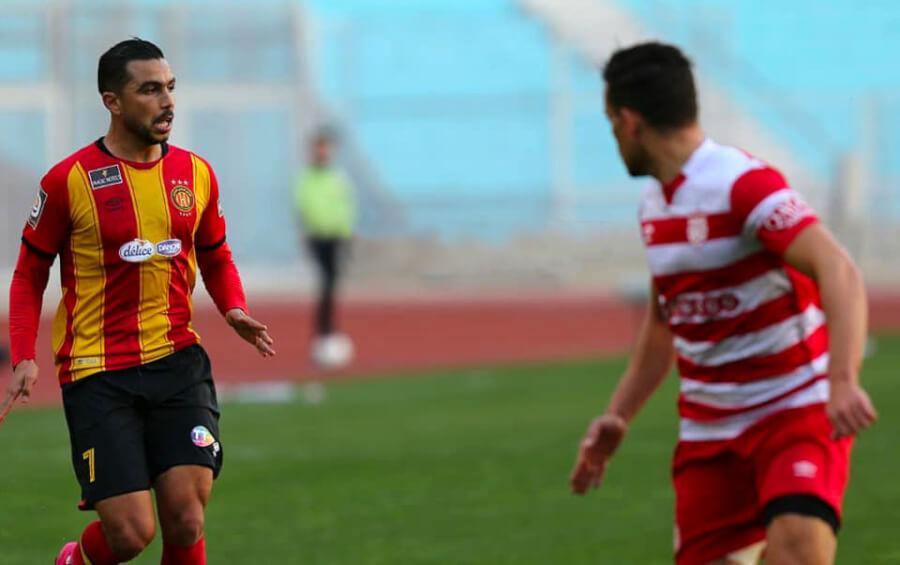 Alaeddine Marzouki remporte son premier derby avec l'Espérance. (Photo est.org.tn)