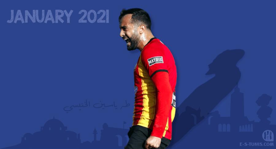 Taha Yassine Khenissi meilleur joueur du mois de janvier 2021.