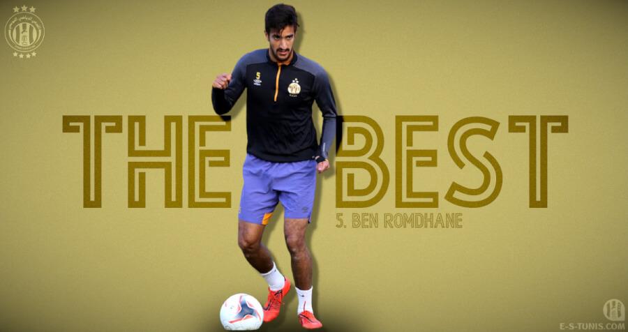 Mohamed Ali Ben Romdhane meilleur joueur Sang et Or de la phase aller de la Ligue 1. Bravo et bonne continuation !