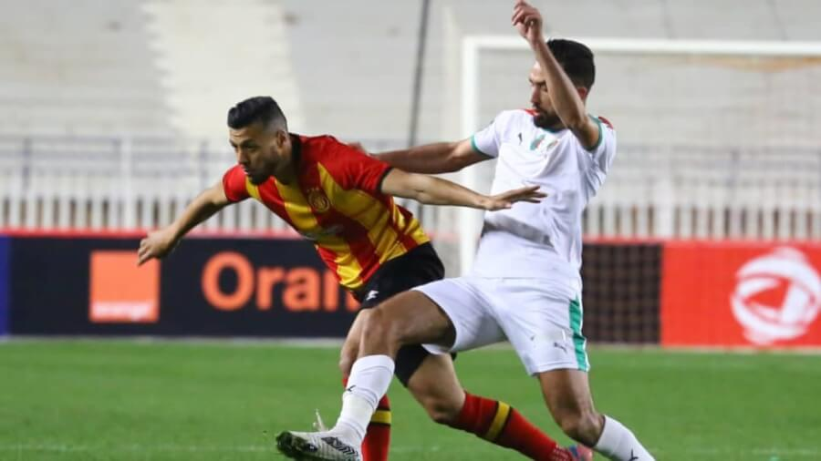 Anice Badri in action as MCA and EST draw (1-1) in Algiers. Photo   CAF Online