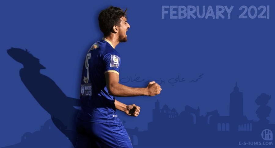Mohamed Ali Ben Romdhane meilleur joueur du mois de février 2021.