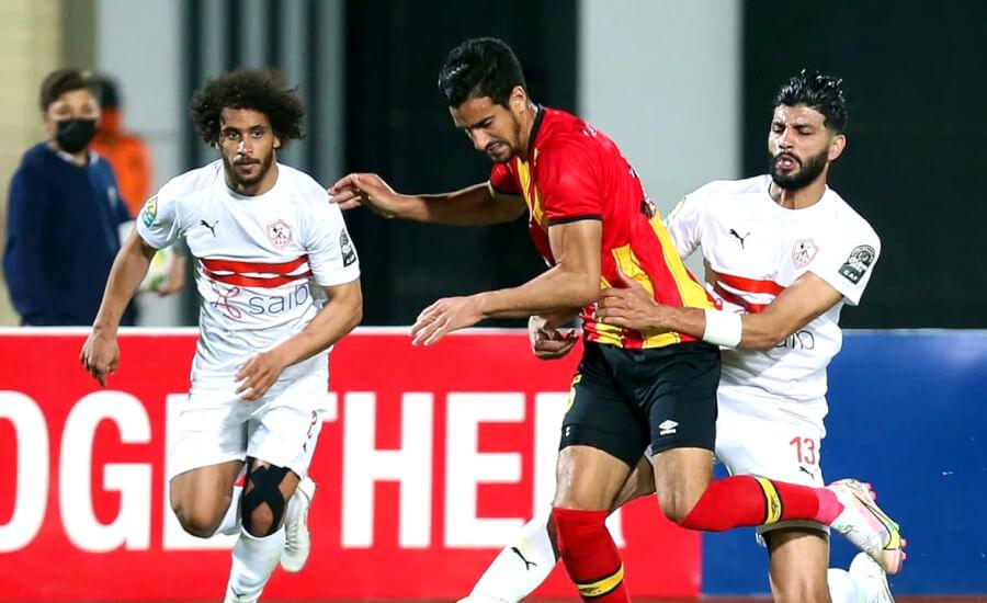 Mohamed-Ali Ben Romdhane insaisissable contre le Zamalek SC au stade du Caire. (Photo cafonline.com)