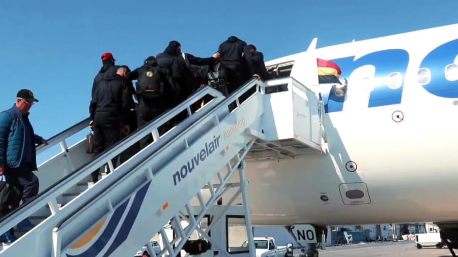 Les Sang et Or ont mis le cap sur la capitale Alger pour y affronter samedi le CR Belouizdad. (Photo est.org.tn)