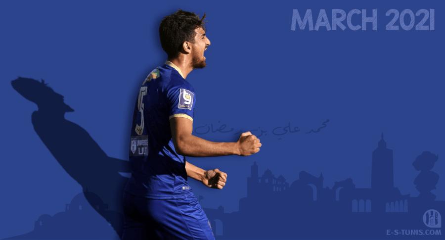 Mohamed Ali Ben Romdhane meilleur joueur du mois de mars 2021.