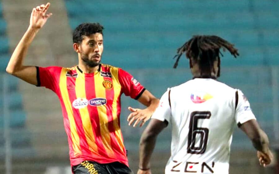 Mohamed-Ali Yaâkoubi et ses coéquipiers n'ont pas su trouver la faille dans la défense sfaxienne cet après-midi au stade de Radès. (Photo est.org.tn)
