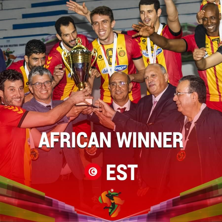 الترجي الرياضي التونسي بطل إفريقيا للأندية البطلة. صورة | الجامعة التونسية للكرة الطائرة