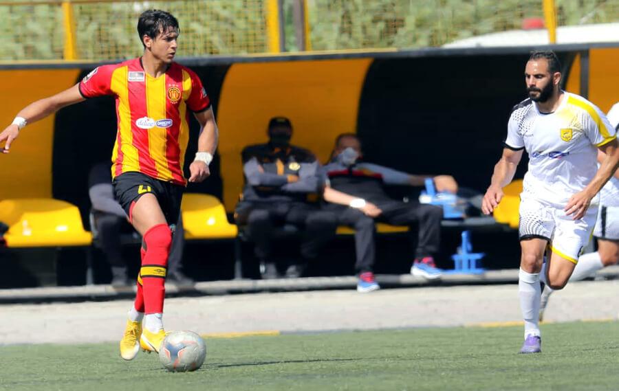 Après une longue absence, Maher Ben Seghaïer est aligné aujourd'hui face au CA Bizertin au stade Bsiri. (Photo est.org.tn)