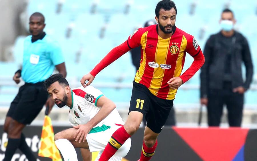 Taha Yassine Khenissi lors du match face au MC Alger, le 10 avril 2021 au stade de Radès. (Photo CAFOnline.com)