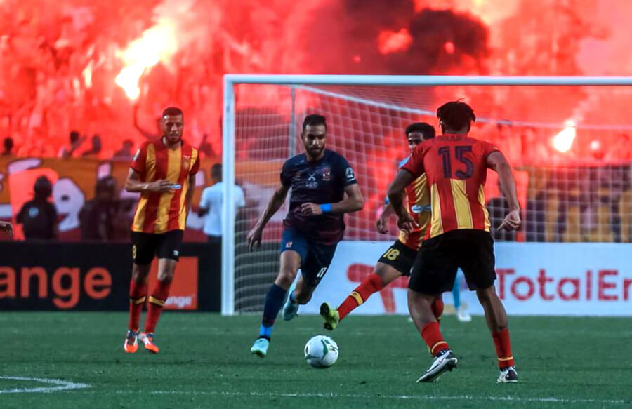 Défaite de l'Espérance de Tunis 1 à 0 face à Al Ahly d'Egypte au stade de Radès. (Photo @AlAhly)