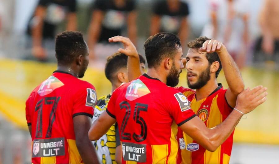Gaïlène Chaâlali auteur de l'unique but face à ES Hammam-Sousse en match amical disputé le 27 août 2021 au Parc B. (Photo est.org.tn)