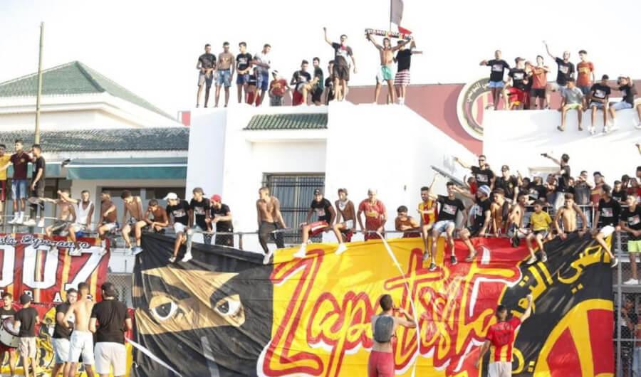 Présence massive des supporters sang et or pour assister au match amical face à l'AS Soliman. (Photo @RadhijaidiOff)