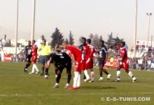 L'Espérance de Tunis disputant un match amical contre l'ES Béni Khalled. (Photo MBL)