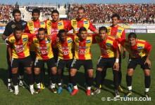 Le Onze sang et or aligné contre le CA Bizertin en championnat de Tunisie le 4 août 2010. (Photo CHALA)