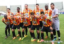 Le onze sang et or aligné contre le Stade Tunisien, le 15 avril 2012 à El Menzah. (Photo CHALA)
