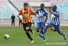 Majdi Traoui contre Dynamos FC en Ligue des champions d'Afrique, le 28 avril 2012. (Photo CHALA)