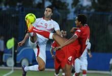 Hamdi Harbaoui lors de Tunisie - Guinée Equatoriale du 02 juin 2012 (3 - 1). (Photo : CAF Online)